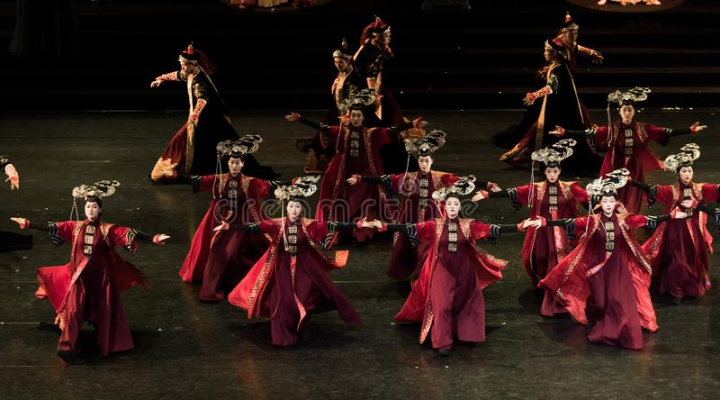 Princess Gege tana 1-Classical Dworski taniec fotografia royalty free