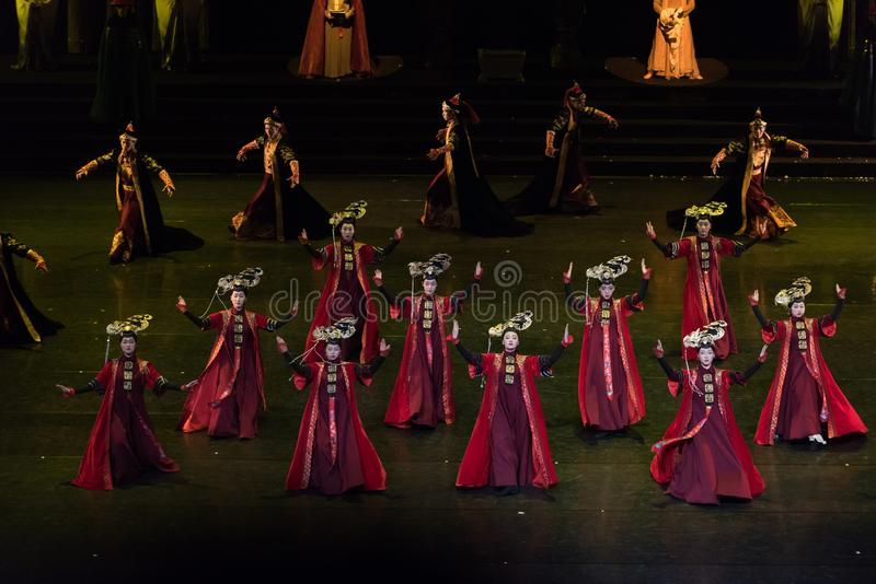 Princess Gege tana 3-Classical Dworski taniec fotografia royalty free