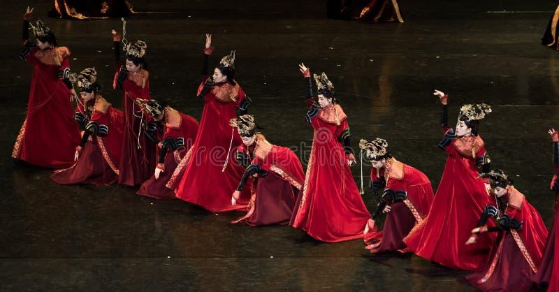 Princess Gege tana 4-Classical Dworski taniec zdjęcia royalty free