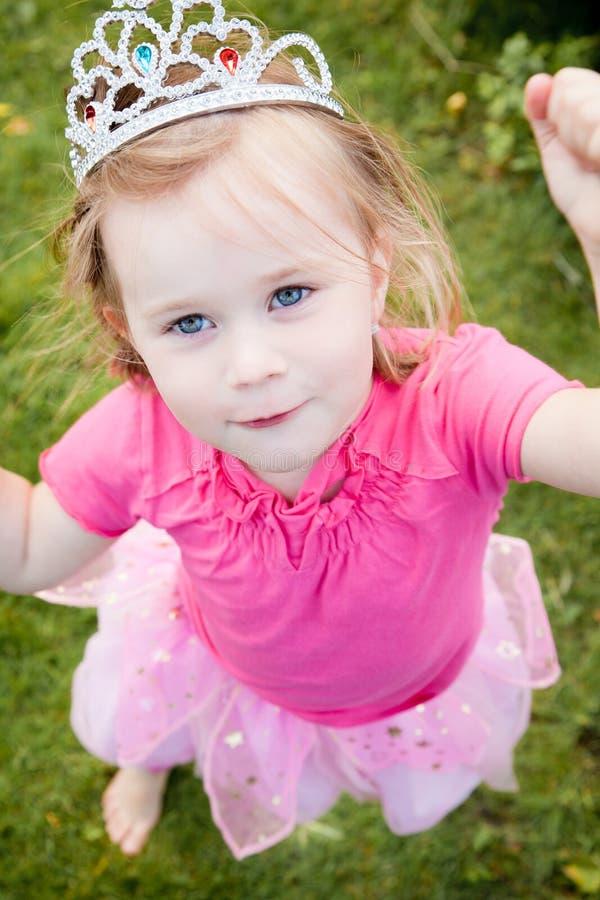 Princess girl. Happy Little girl dressed like a fairy princess royalty free stock photo