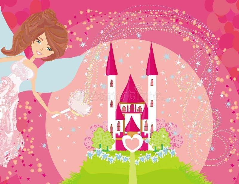 princess grodowa czarodziejska magiczna bajka royalty ilustracja