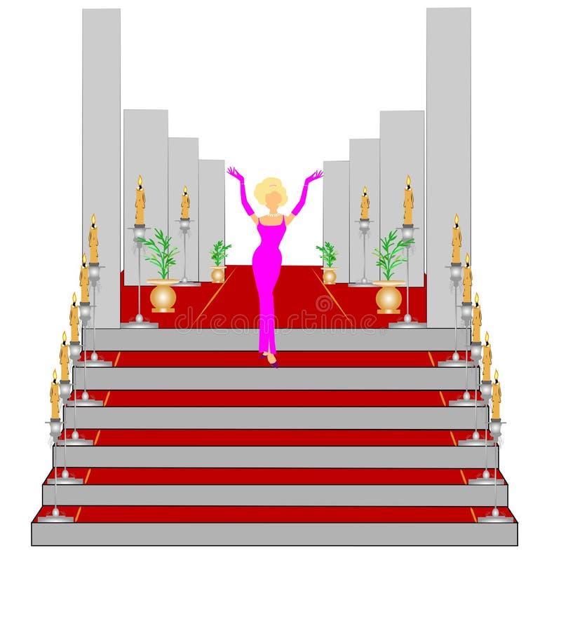 Princess has arrived royalty free illustration