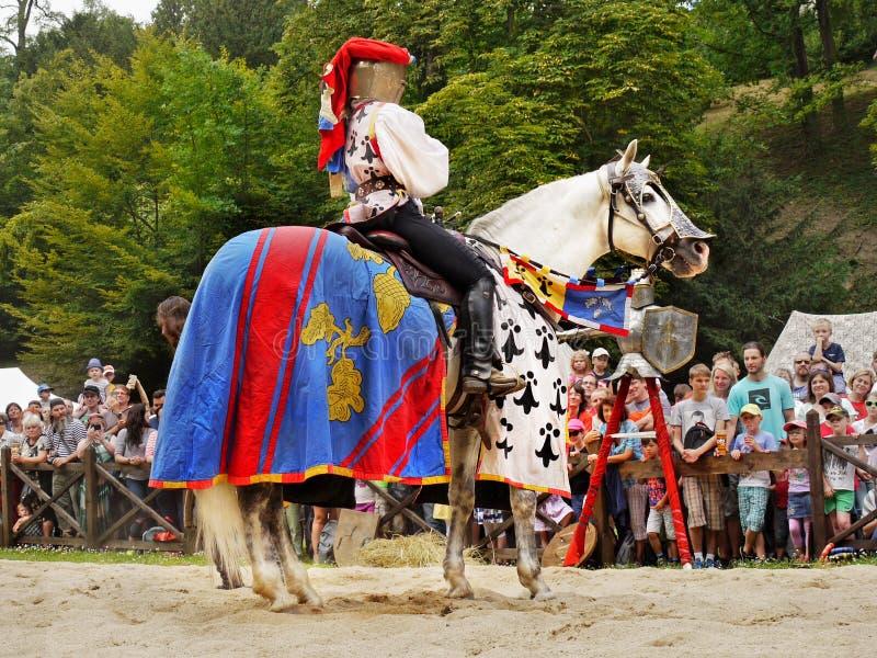 Princess on Horseback, Knights Medieval Festival royalty free stock photos