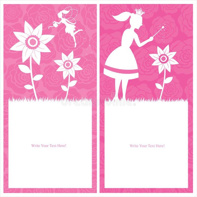 Princess i czarodziejki szablonu projekt royalty ilustracja