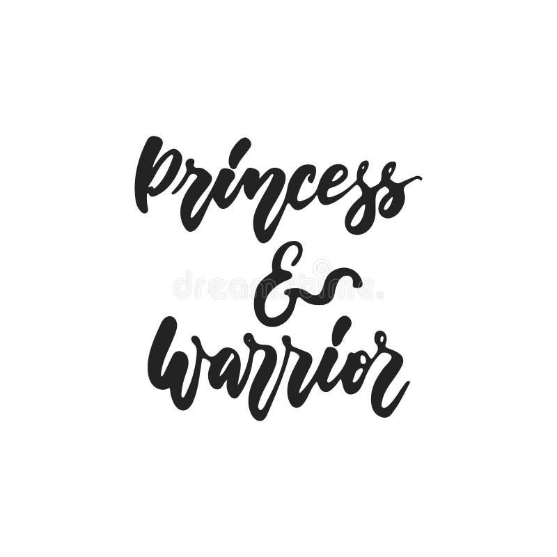 Princess i wojownik - wręcza patroszonego Października nowotworu piersi świadomości miesiąca literowania zwrot odizolowywającego  ilustracji