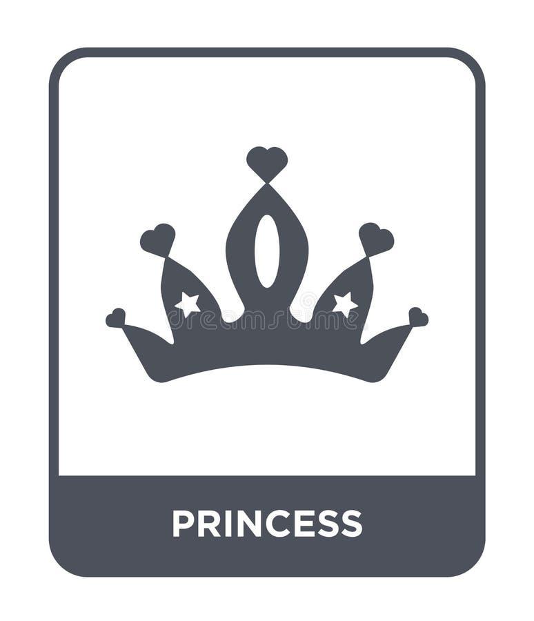 princess ikona w modnym projekta stylu princess ikona odizolowywająca na białym tle princess wektorowej ikony prosty i nowożytny  ilustracja wektor