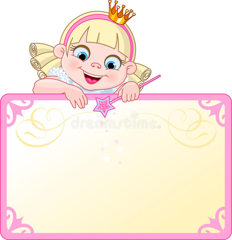Princess Invite or Placard royalty free stock images
