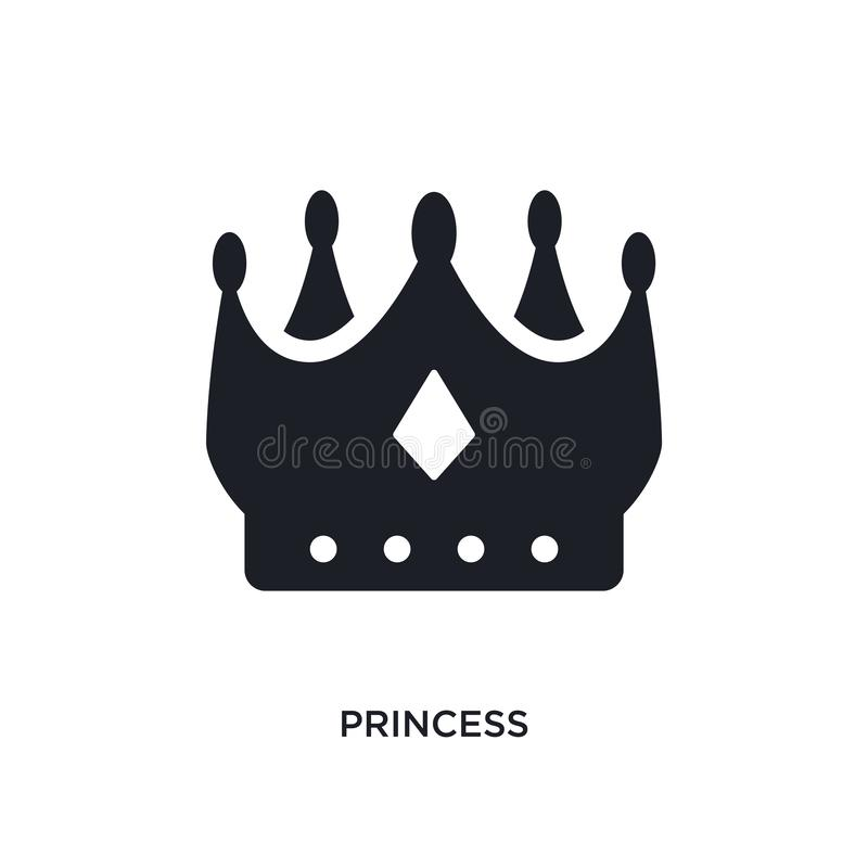 princess isolated icon. simple element illustration from luxury concept icons. princess editable logo sign symbol design on white vector illustration