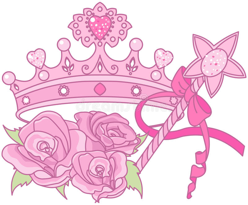Princess Korona ilustracja wektor