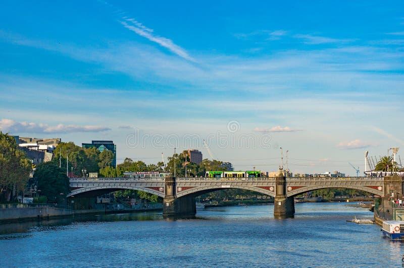 Princess most nad Yarra rzeką w Melbourne obrazy stock