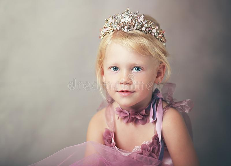 Princess in pink dress royalty free stock images