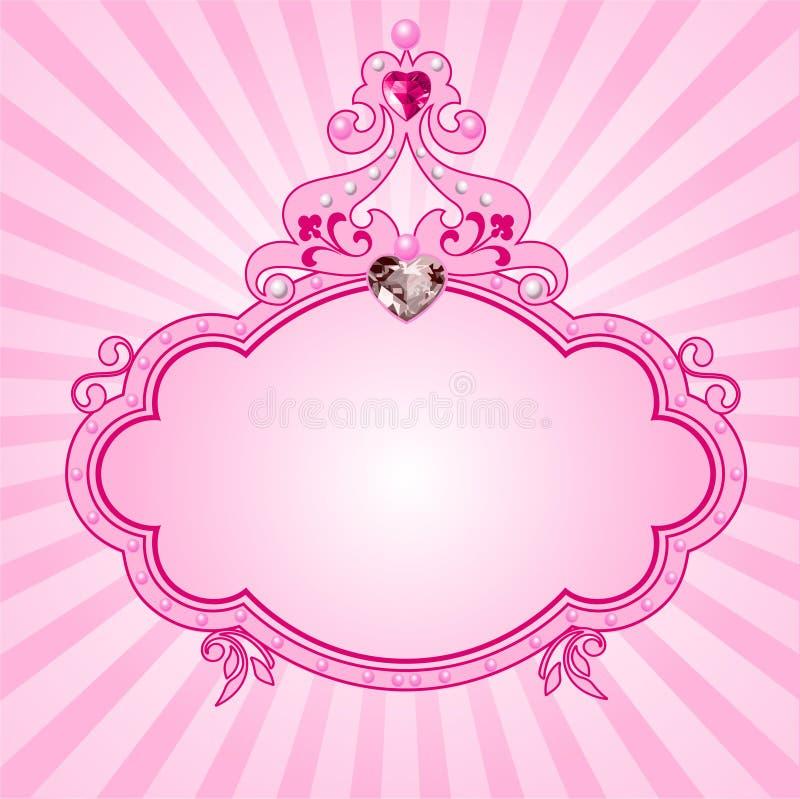 Princess pink frame stock vector. Illustration of diamond - 14422279