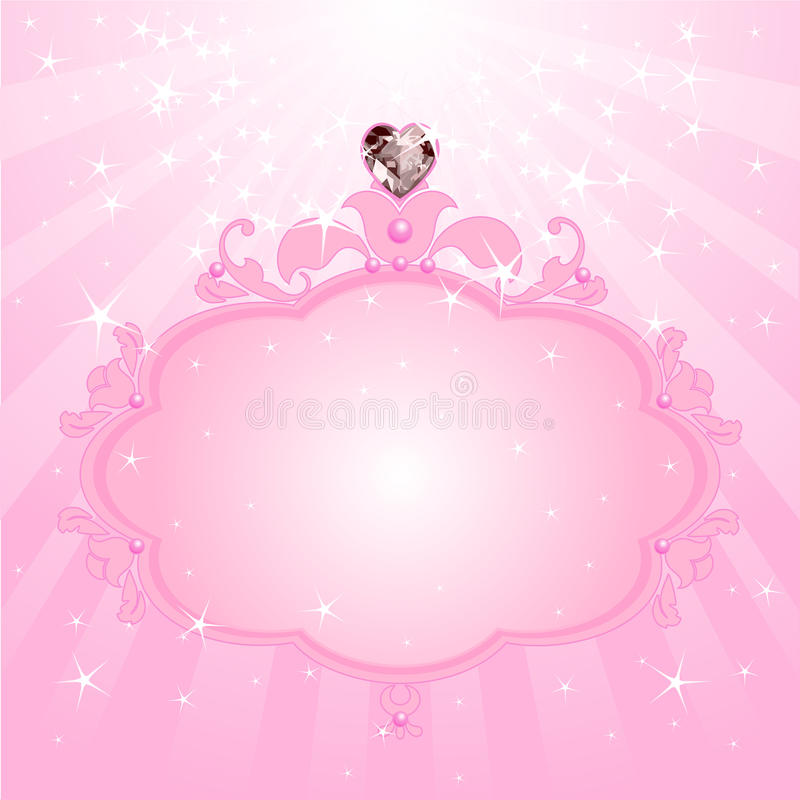 Free Princess Pink Frame Royalty Free Stock Photos - 42520798