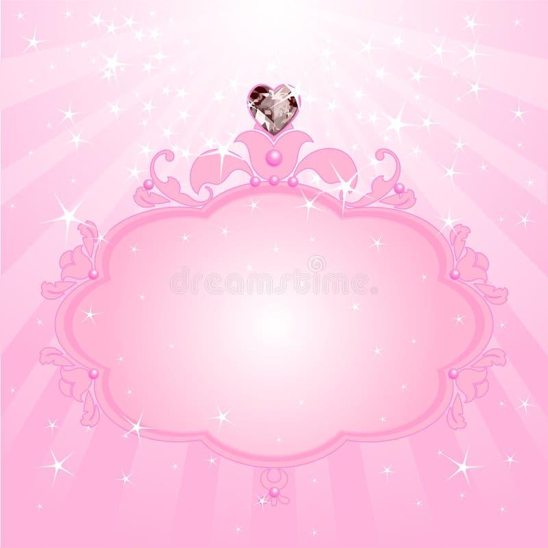 Princess pink frame stock illustration