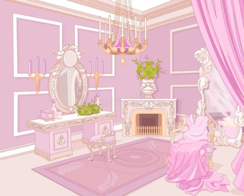 Princess przebieralnia ilustracji