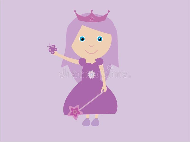 princess purpury royalty ilustracja