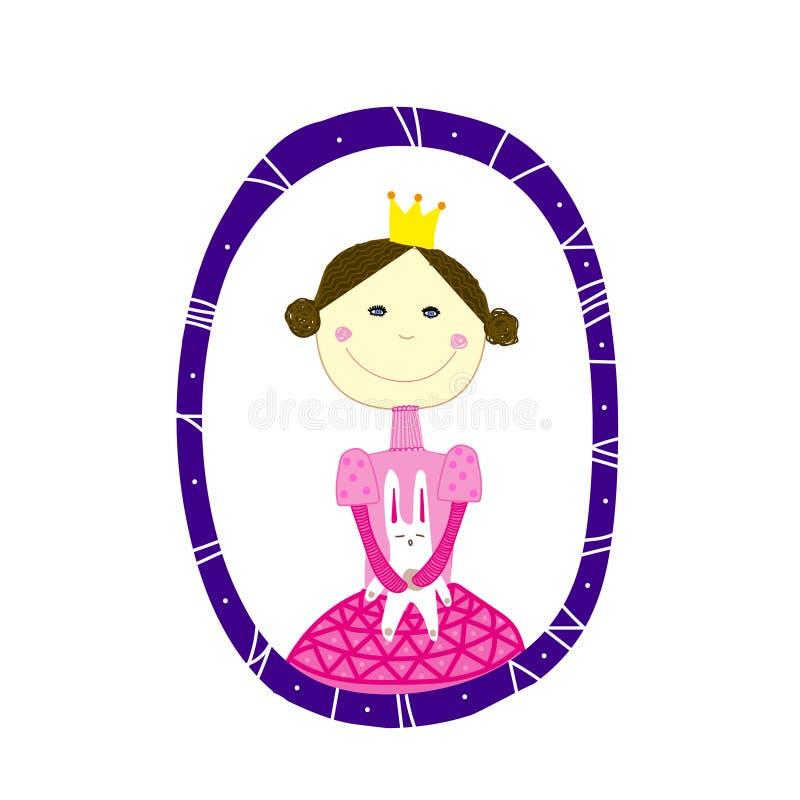 Princess with rabbir royalty free stock photo
