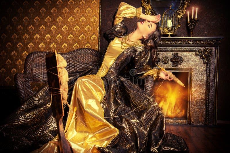 Princess renaissance stock photo