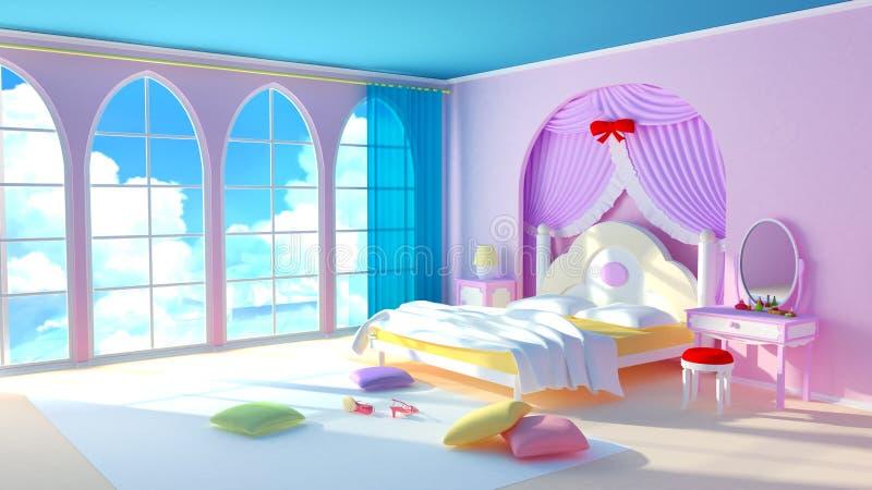 Download Princess room stock illustration. Illustration of decor - 21601893