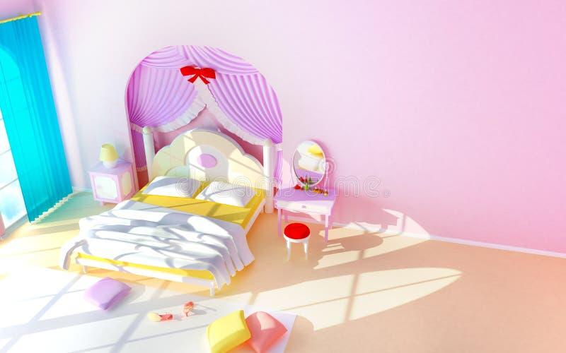 Download Princess room stock illustration. Illustration of children - 21971266