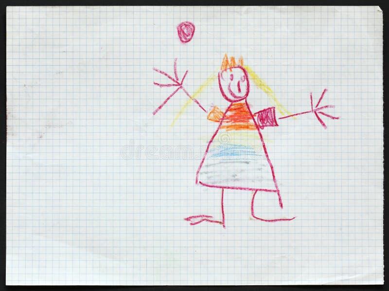princess s jest dziecko obraz royalty free