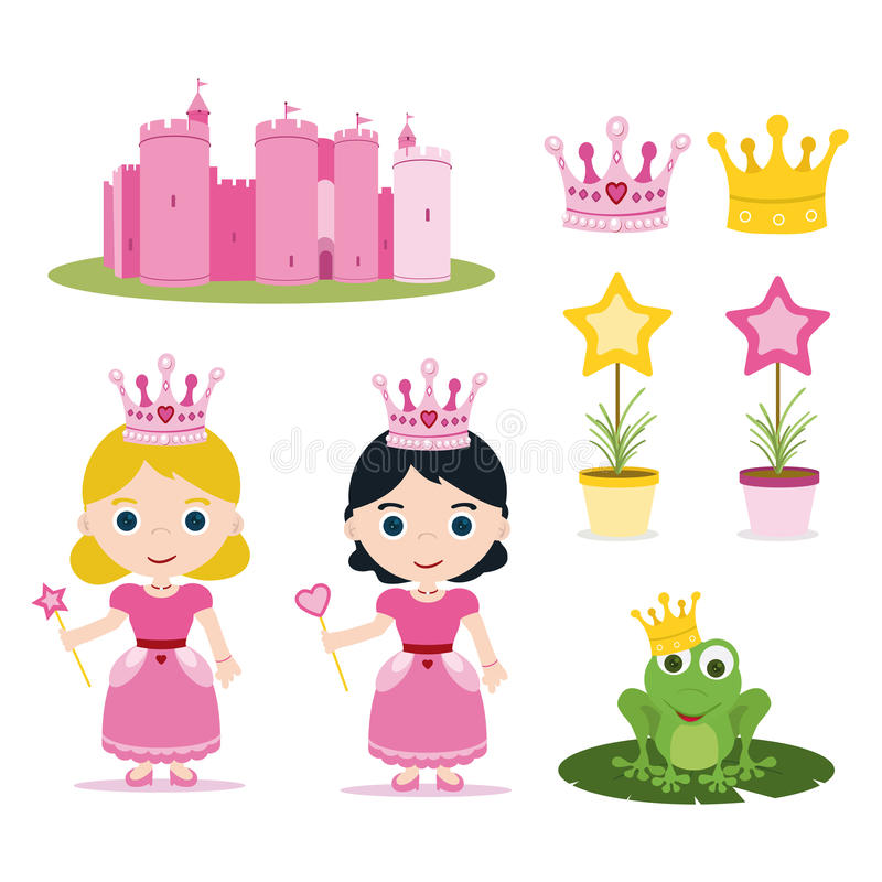 Download Princess set stock vector. Image of beauty, castle, heart - 25948120