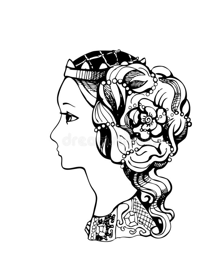 Download Princess silhouette stock vector. Image of hairstyle - 11909867