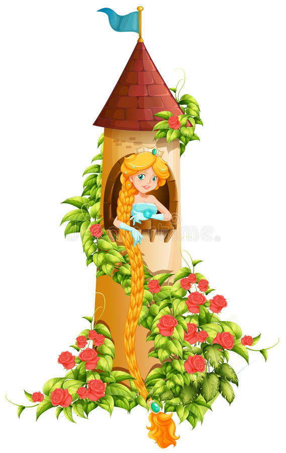 Free Princess Sitting In Castle Tower Royalty Free Stock Image - 70929536