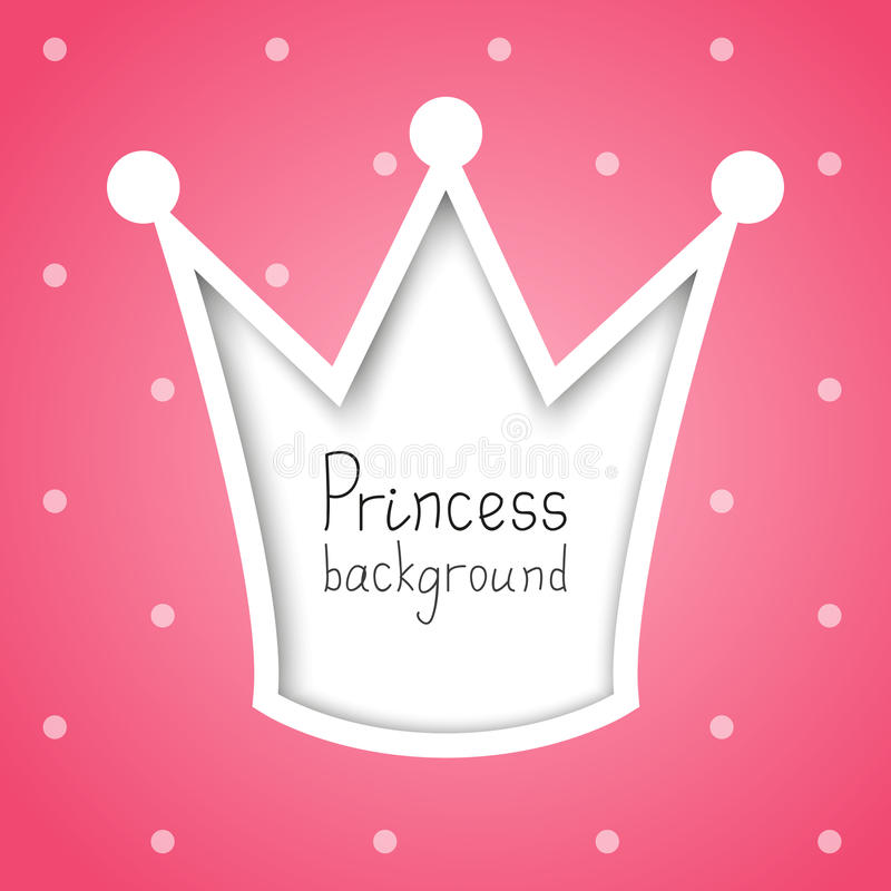 Princess tło royalty ilustracja
