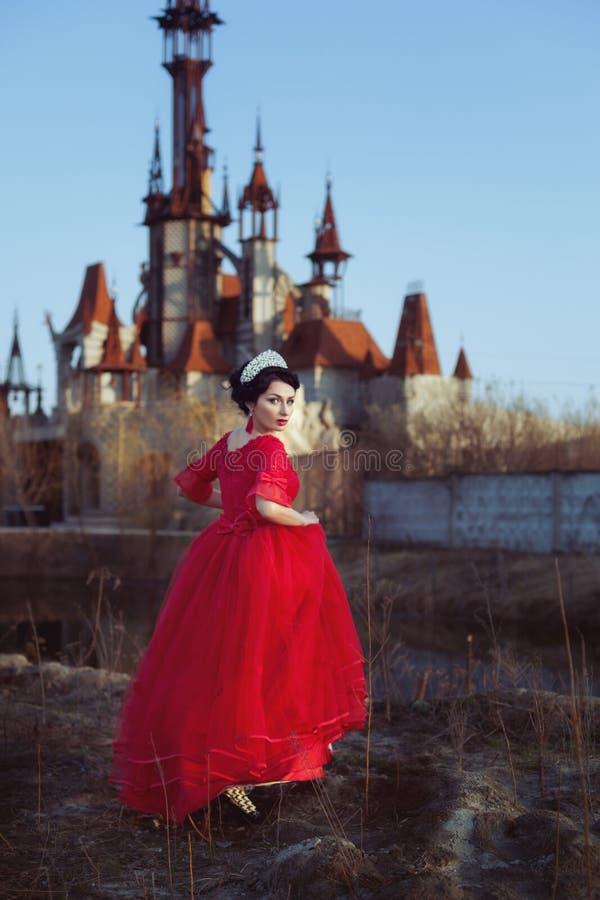 Princess tło antyczny kasztel fotografia royalty free