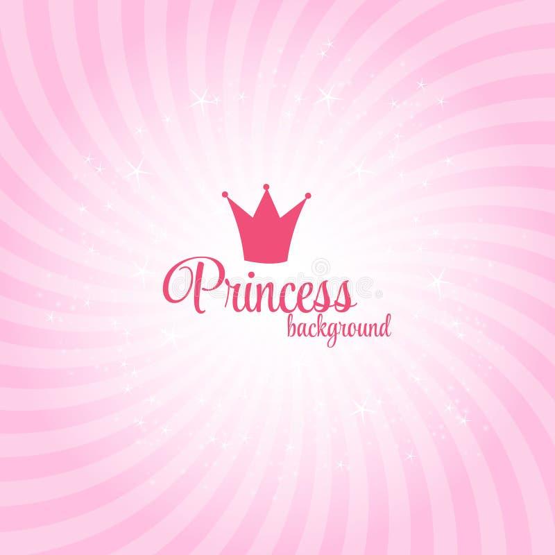 Princess tło wektoru Abstrakcjonistyczna ilustracja royalty ilustracja