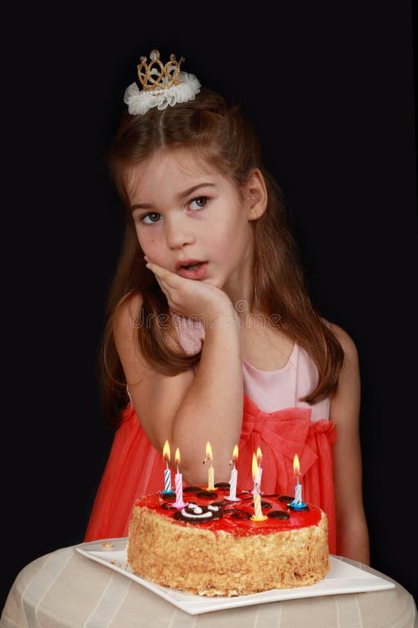 Princess Urodzinowy tort obrazy stock
