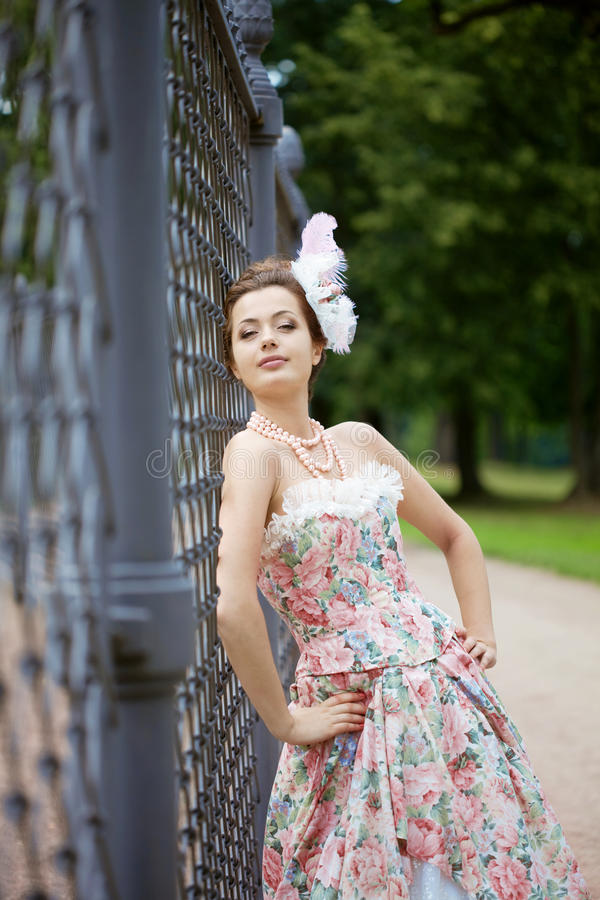 Download Princess In An Vintage Dress In Nature Stock Image - Image: 21228639