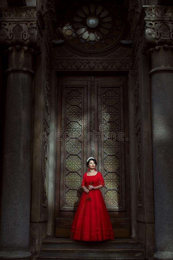 Princess w pałac fotografia stock