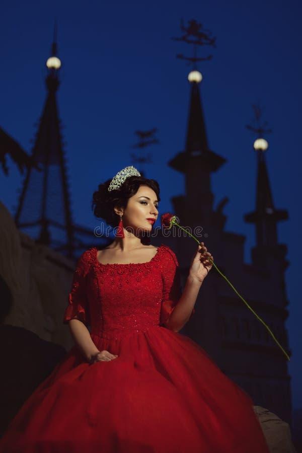 Princess zanudza przy nocą fotografia royalty free