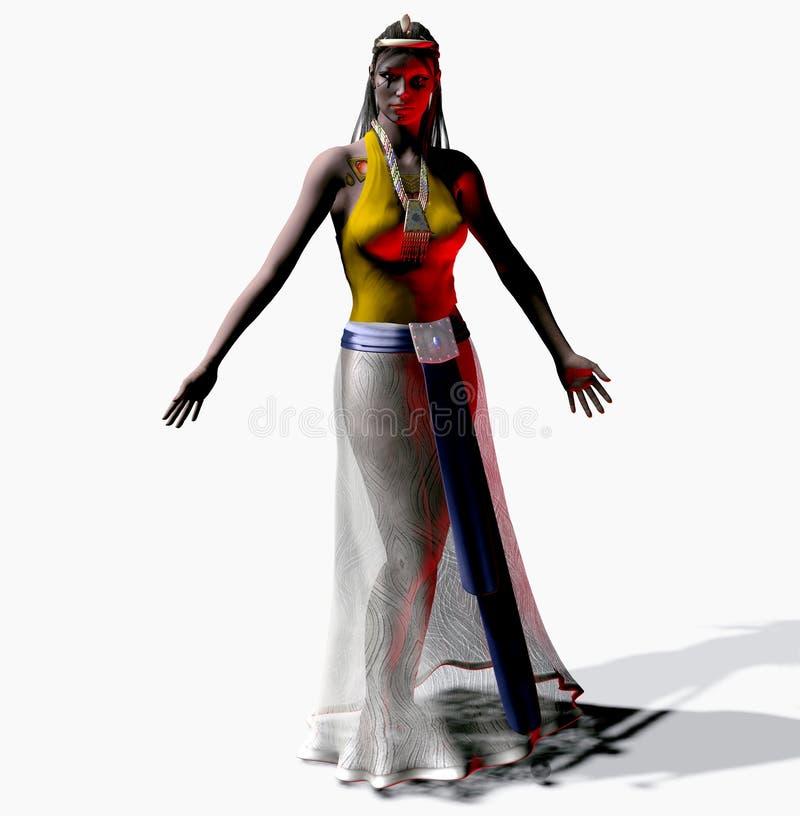 Princesse égyptienne White Background illustration de vecteur