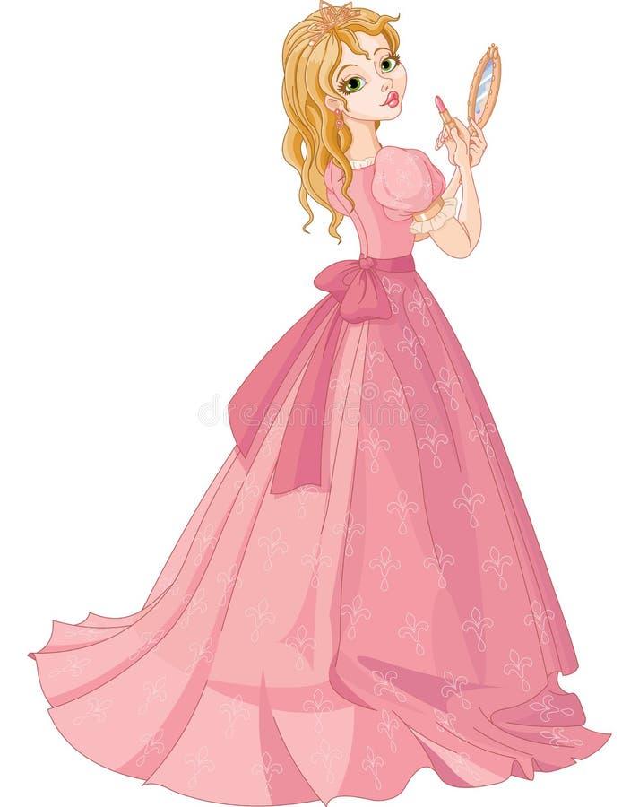 Princesse avec le rouge à lèvres illustration stock