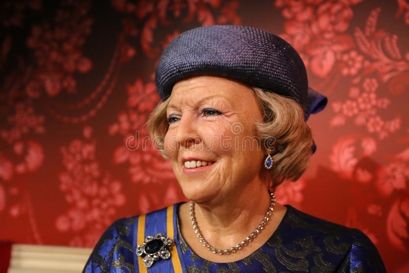 Princesse Beatrix, Madame Tussauds photographie stock libre de droits