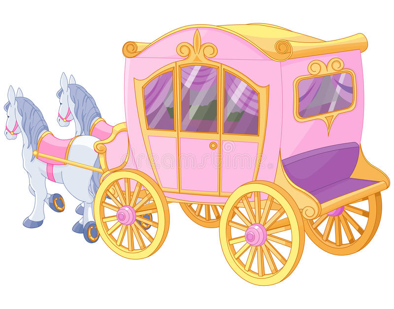 Princesse Carriage illustration stock