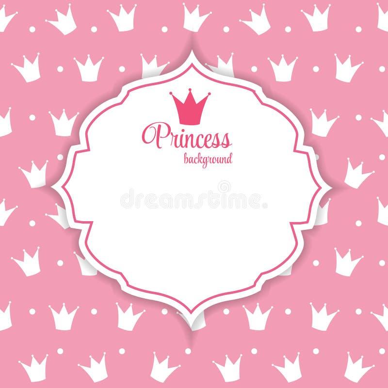 Princesse Crown Background Vector Illustration. illustration stock