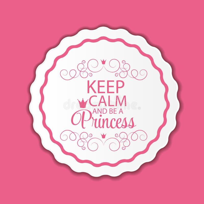 Princesse Crown Background Vector Illustration illustration stock