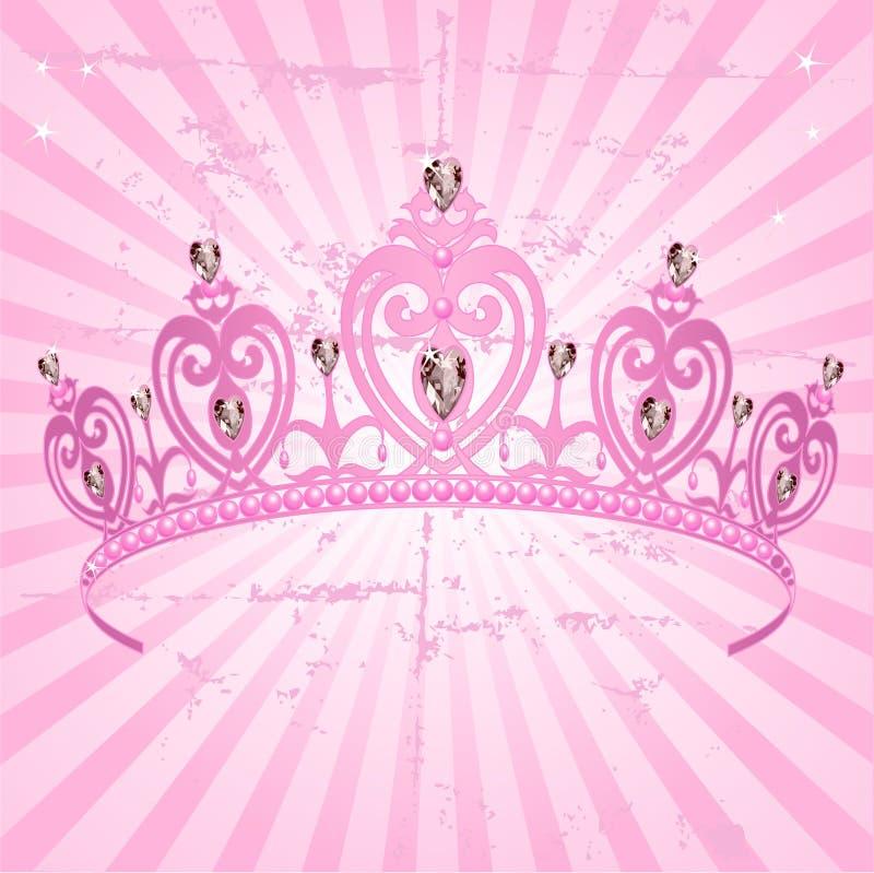 Princesse Crown sur le fond radial de grange illustration de vecteur