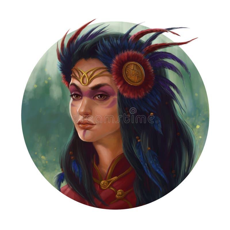 Princesse d'Elven illustration stock