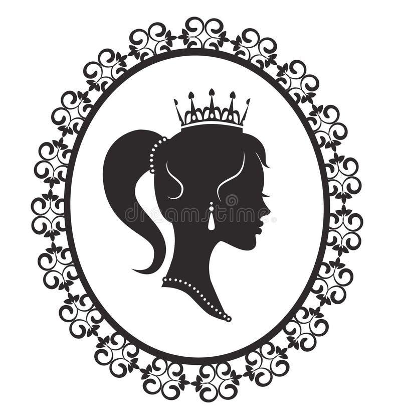 Princesse dans le cadre illustration libre de droits