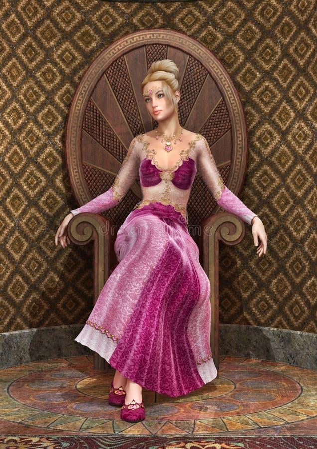 Princesse de conte de fées illustration de vecteur