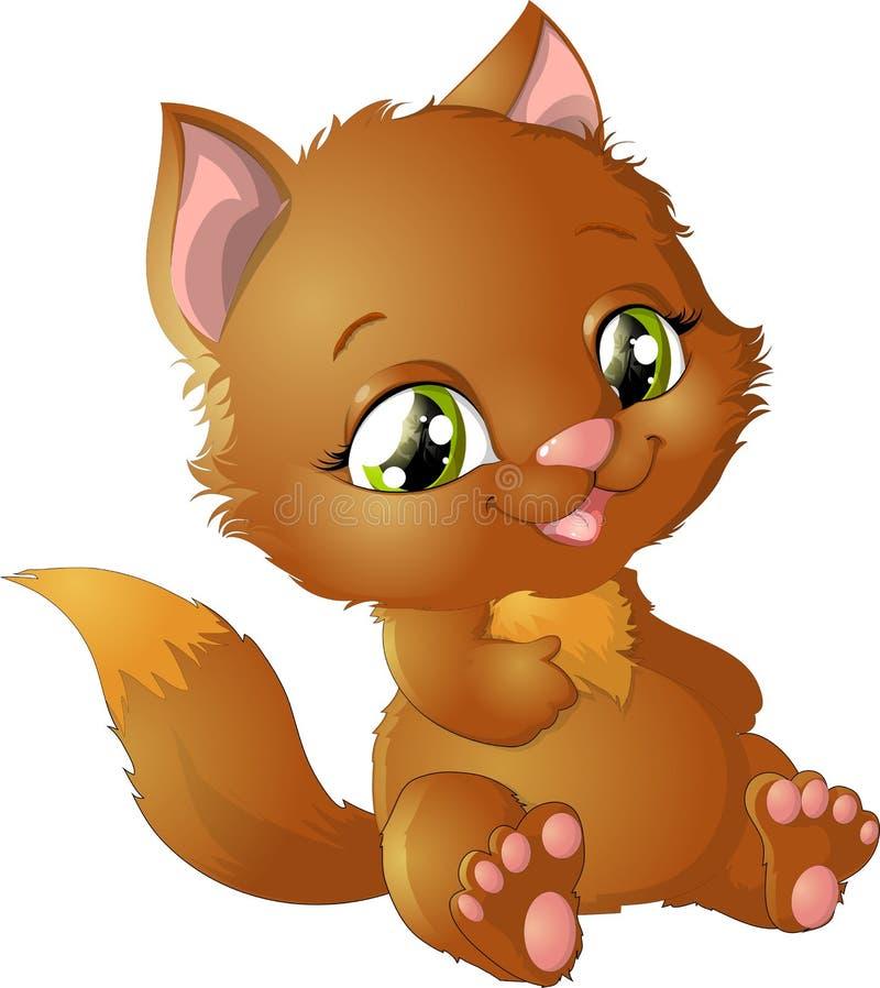 Princesse de Kitty avec des décorations illustration libre de droits