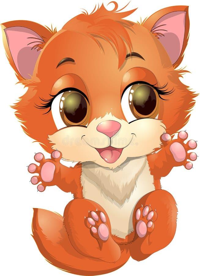Princesse de Kitty avec des décorations illustration de vecteur