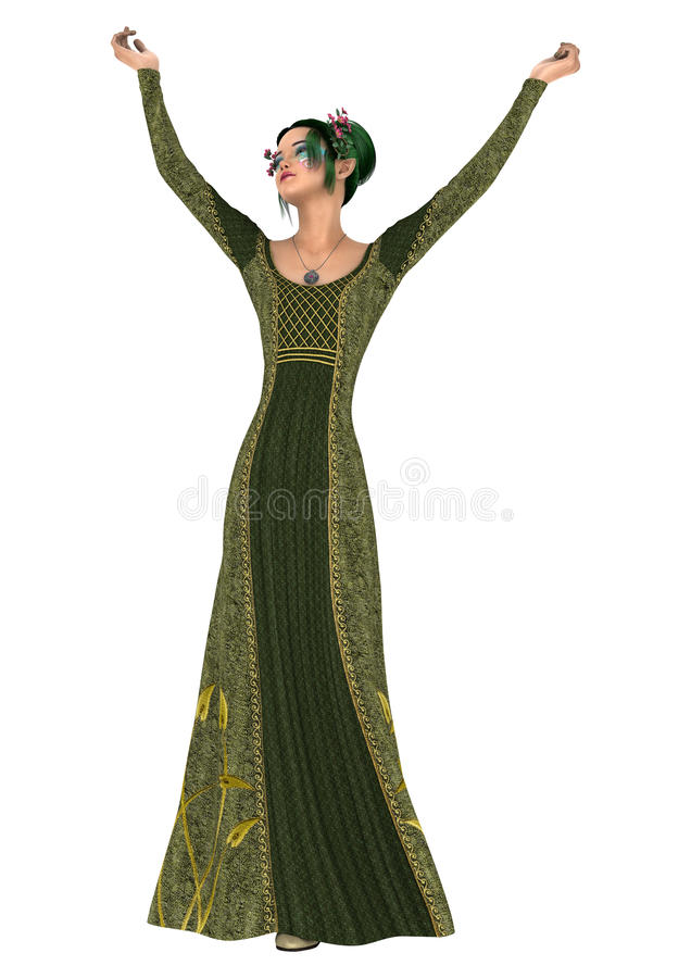 Download Princesse de ressort illustration stock. Illustration du femelle - 56487208