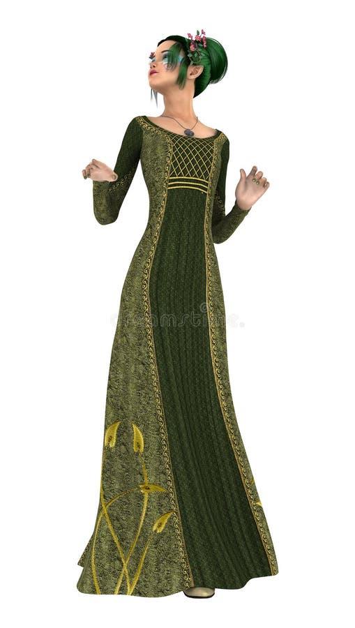 Download Princesse de ressort illustration stock. Illustration du beau - 56487748