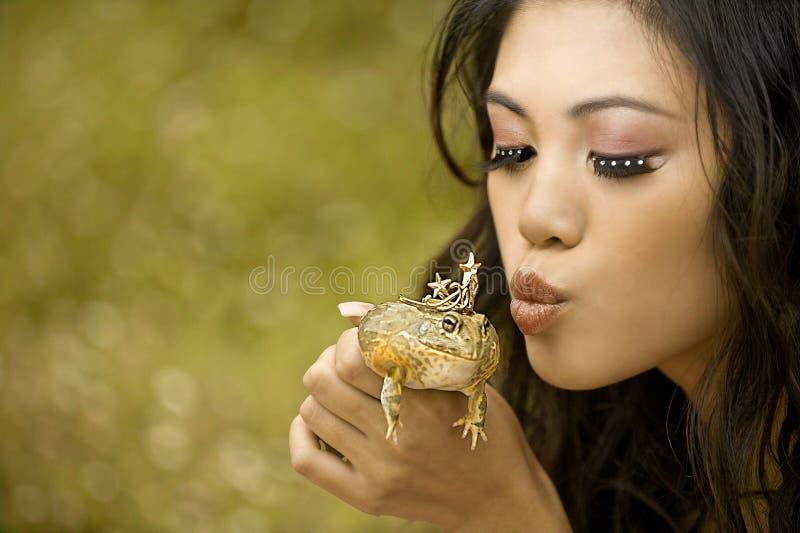 Princesse et la grenouille image stock